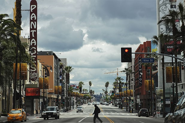 hollywood blvd coronavirus