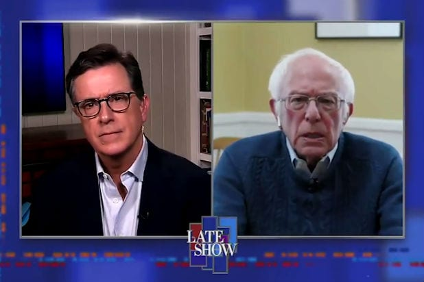 Colbert Talks to Bernie After Bernie Drops Out