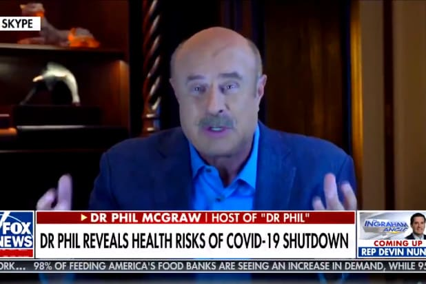 dr phil downplays the coronavirus pandemic and makes up stats