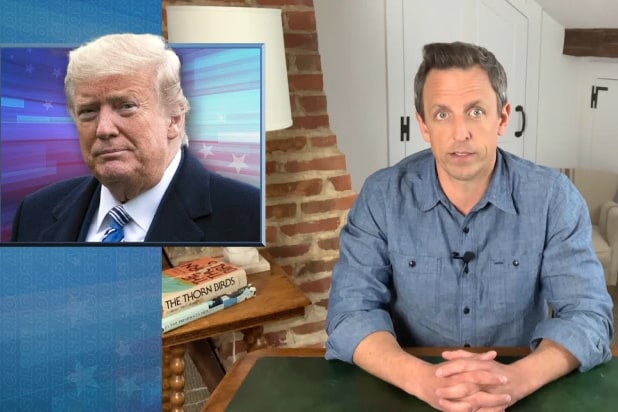 late night with seth meyers donald trump lying about not knowing about pandemics
