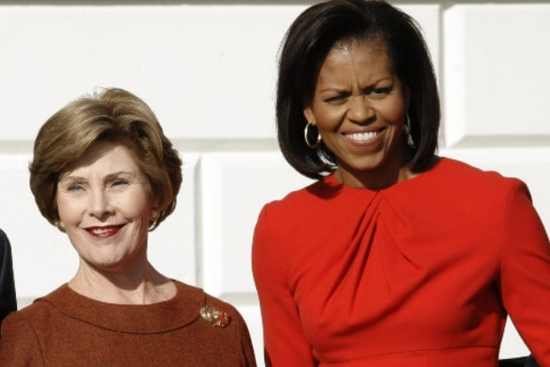laura bush michelle obama