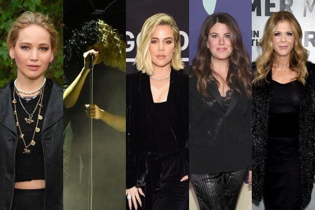 Jennifer Lawrence, Sia, Khloe Kardashian, Monica Lewinsky, Rita Wilson