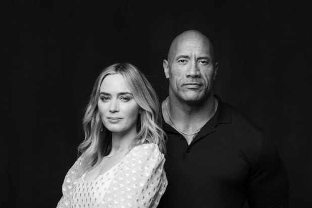 Dwayne Johnson Emily Blunt Superhero Ball and Chain