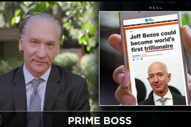 Bill Maher Jeff Bezos Amazon trillionaire anti-capitalist
