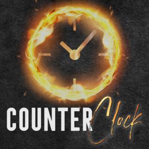 Counter Clock Ashley Flowers