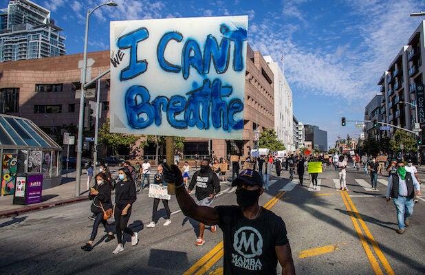 Los Angeles Protest Riot George Floyd