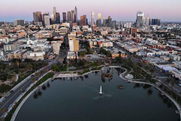 MacArthur Park in Los Angeles