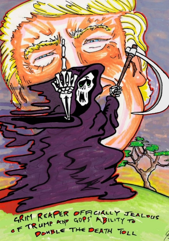 Jim Carrey Donald Trump Grim Reaper