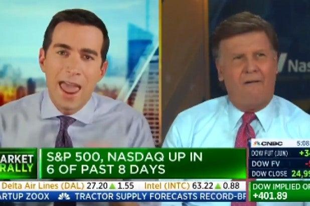 CNBC Squawk Box fight