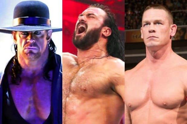 wwe champions ranked number of reigns undertaker drew mcintyre john cena