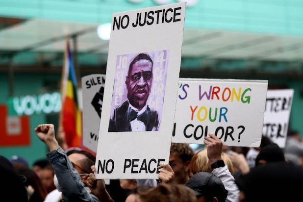 George Floyd protests in Auckland