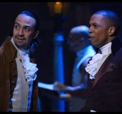 Lin-Manuel Miranda and Leslie Odom Jr. in Hamilton