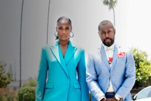 FOR MAGAZINE USE ONLY Issa Rae and Prentice Penny