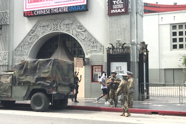 Hollywood protest Chinese theater