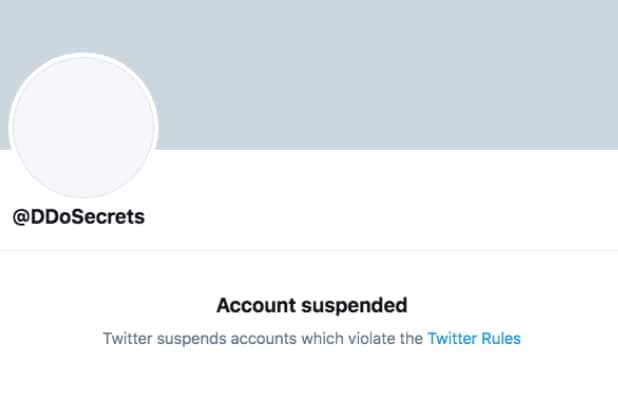 Twitter suspends account