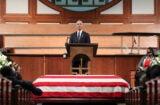 Barack Obama speaks at the funeral for John Lewis