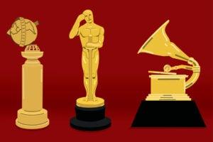 Golden Globes Oscars Grammys
