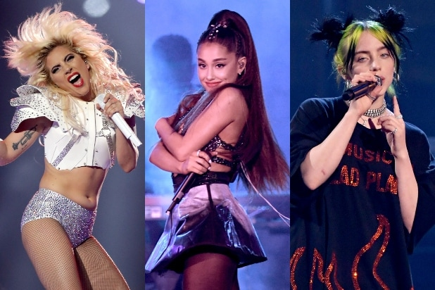 Lady Gaga, Ariana Grande, Billie Eilish