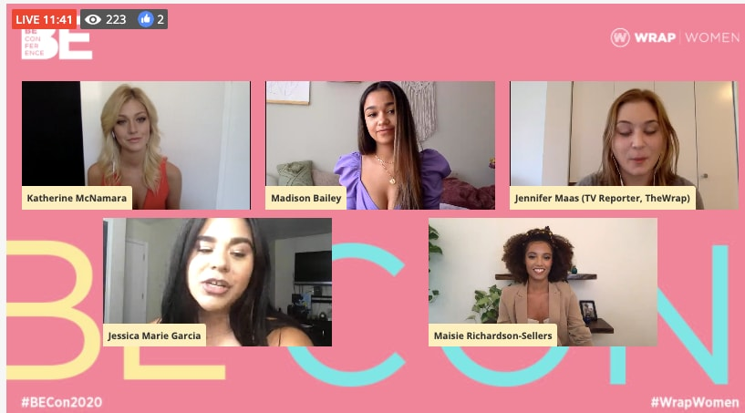 Be Con panel Madison Bailey, Katherine McNamara, Jessica Marie Garcia, Maisie Richardson Sellers