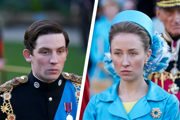 Josh O'Connor and Erin Doherty in The Crown