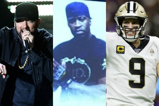eminem drew brees george floyd