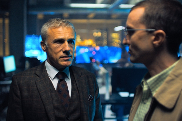 Christoph Waltz and Aaron Poole in