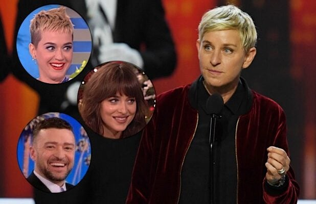 Ellen DeGeneres Katy Perry Dakota Johnson Justin Timberlake