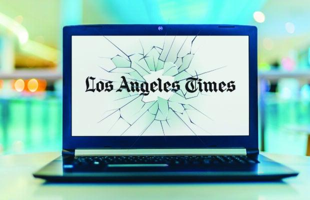 LA Times logo on computer