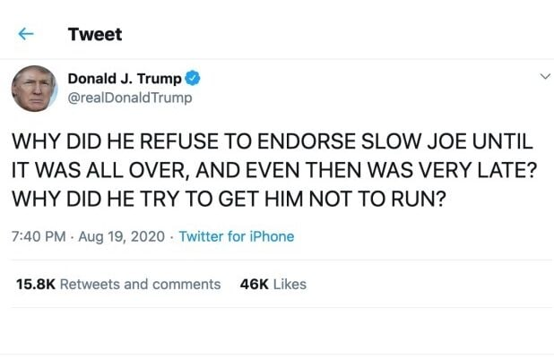 Donald Trump Freaks Out On Twitter During Obama S Dnc Speech