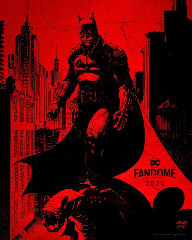 The Batman DC Fandome Jim Lee Poster Matt Reeves