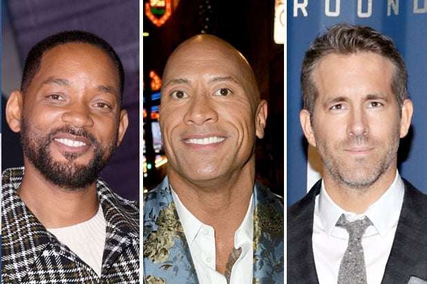 forbes best paid will smith dwayne johnson ryan reynolds