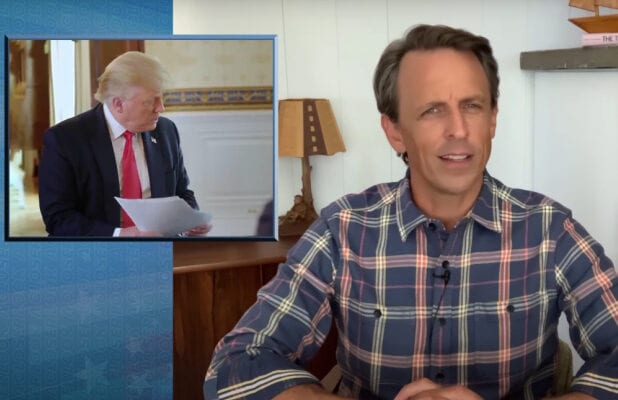 late night with seth meyers donald trump axious interview a closer look