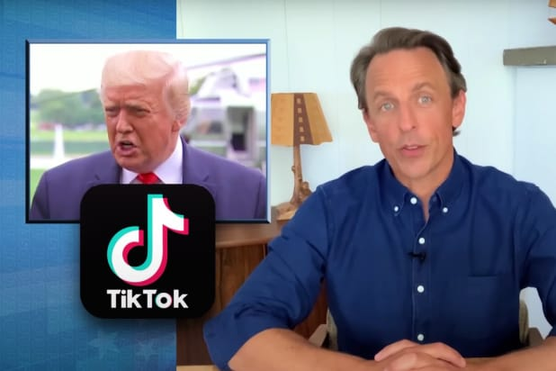 late night with seth meyers trump doesn't know what tiktok is