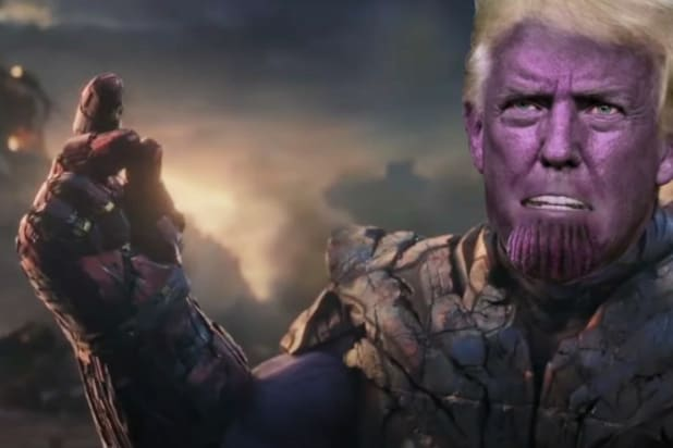 the late show with stephen colbert donald trump thanos rnc avengers endgame parody