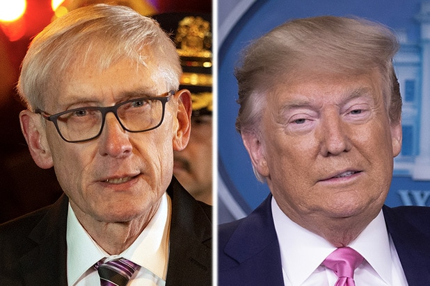 Tony Evers and Donald Trump