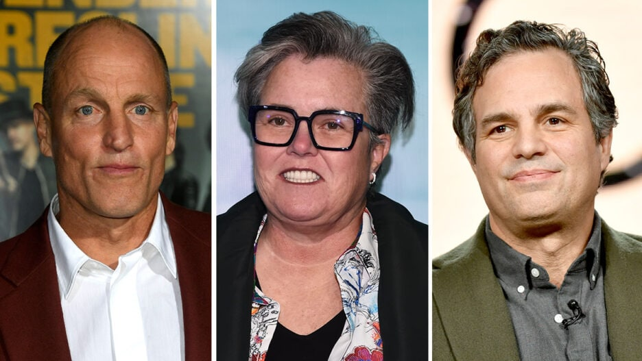 9/11 truthers woody harrelson rosie o'donnell mark ruffalo