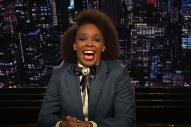 Amber Ruffin Fangirls Over Mary J Blige in First-Ever Late-Night Monologue (Video)
