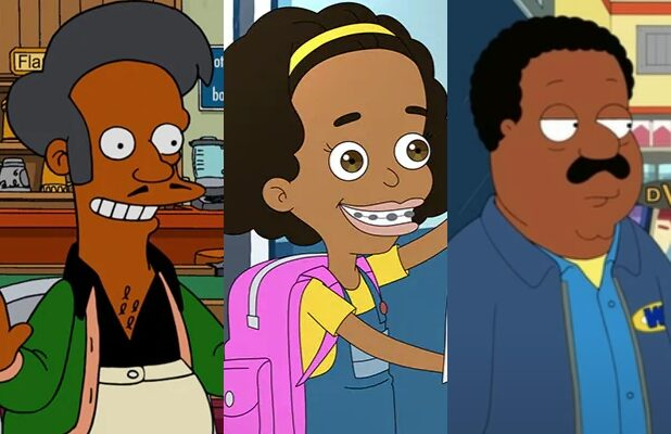 Apu The Simpsons, Missy Big Mouth, Cleveland Brown Family Guy