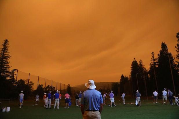 Napa orange sky