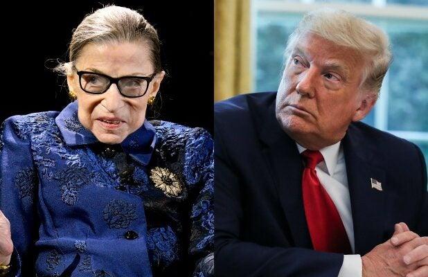 Ruth Bader Ginsburg Donald Trump