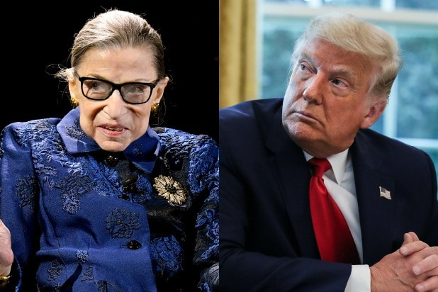 Watch Trump Say He Just Learned of RBG's Death…Moments After a Speech About the Supreme Court (Video)