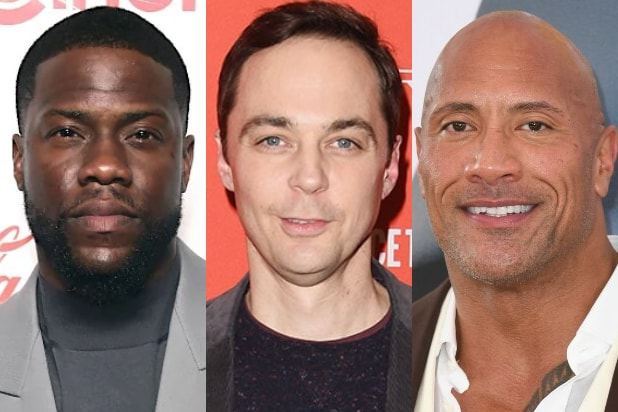 kevin hart jim parsons dwayne johnson