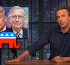 late night with seth meyers trump and republicans are degrading liars for trying to replace rbg