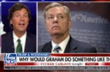 tucker carlson blames lindsey graham for trump's woodward interviews