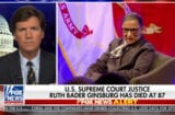 tucker carlson complains that ruth bader ginsburg doesn't want to be replaced by trump