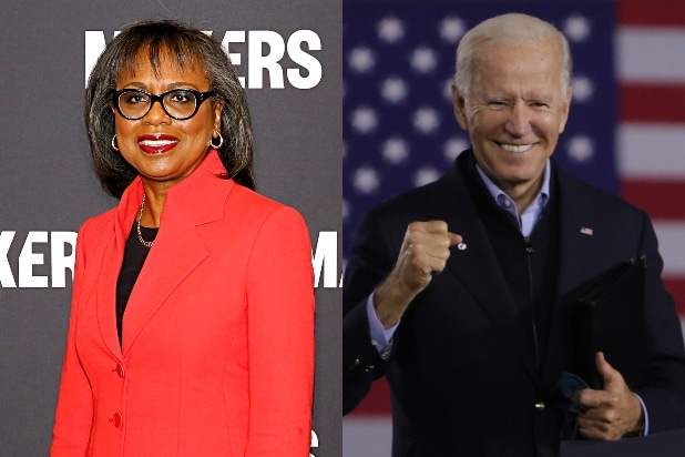 Anita Hill and Joe Biden