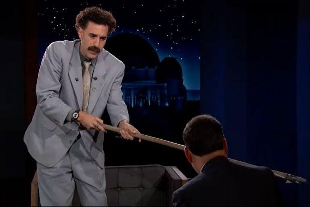 Borat Sacha Baron Cohen Jimmy kimmel Live