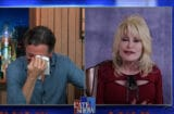 Dolly Parton makes Stephen Colbert cry