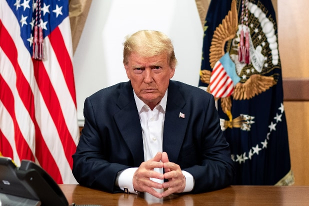 Donald Trump Walter Reed Medical Center COVID-19