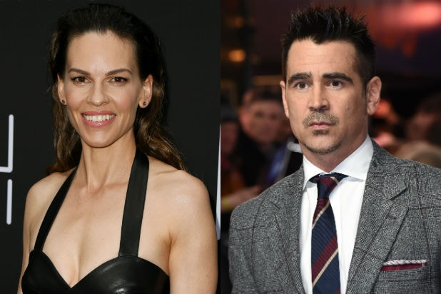 Hillary Swank Fatale and Colin Farrell Voyagers Delayed